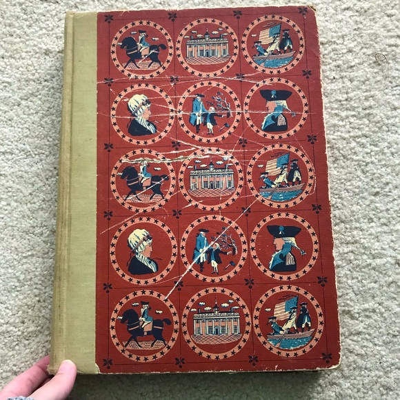 Vintage 1957 Golden Book of America Book